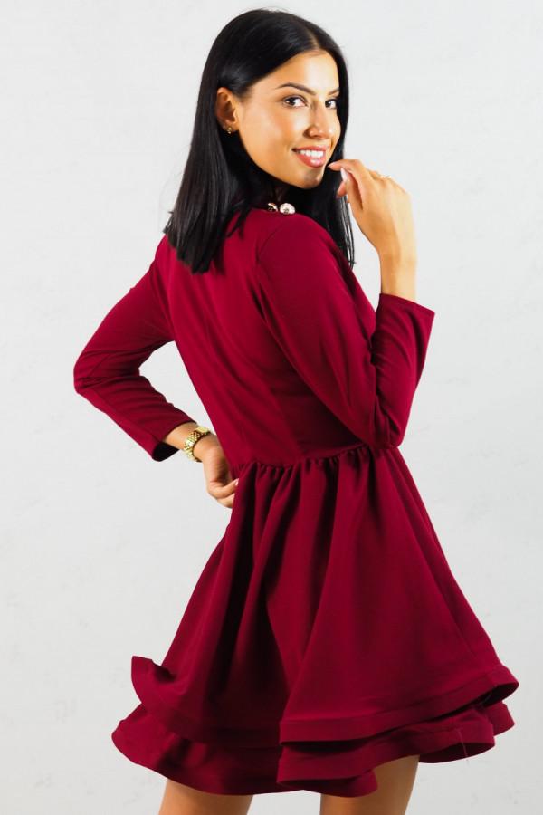 Sukienka bordowa Adela 9