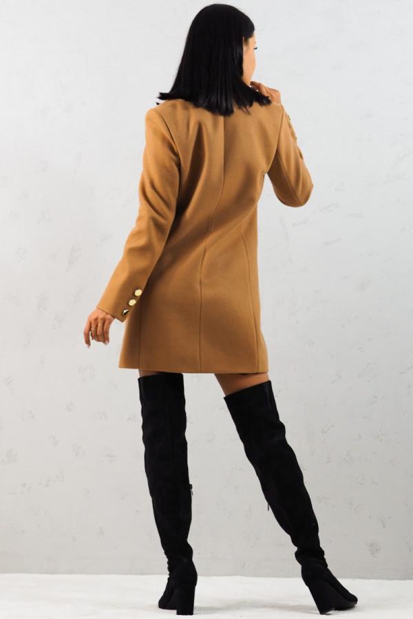 Płaszcz brązowy z guzikami Aline