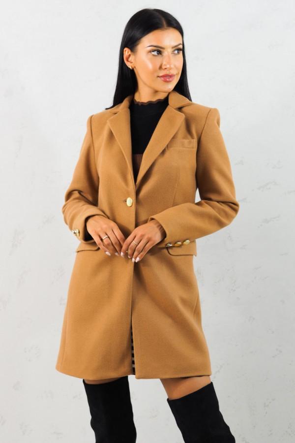 Płaszcz brązowy z guzikami Aline 3