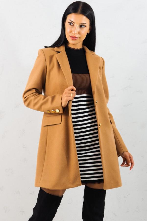 Płaszcz brązowy z guzikami Aline 4
