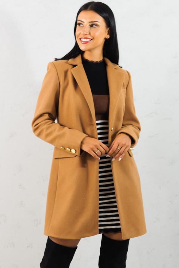 Płaszcz brązowy z guzikami Aline 5