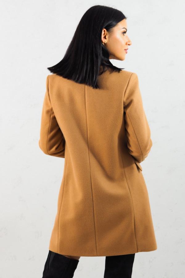 Płaszcz brązowy z guzikami Aline 6