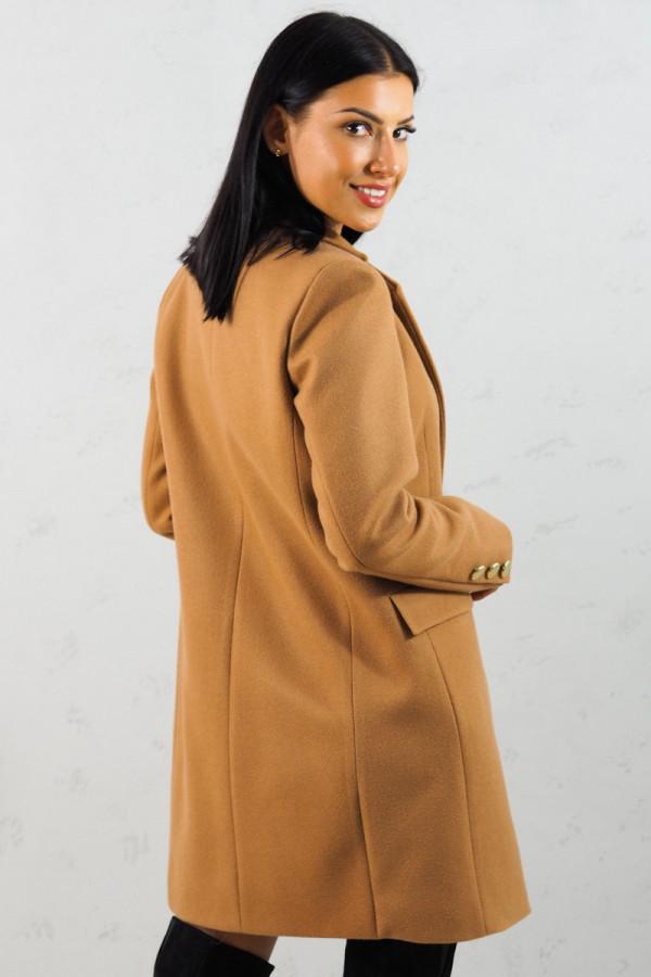 Płaszcz brązowy z guzikami Aline 7