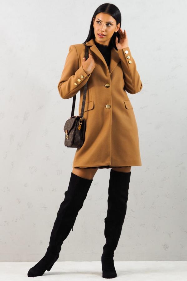 Płaszcz brązowy z guzikami Aline 8