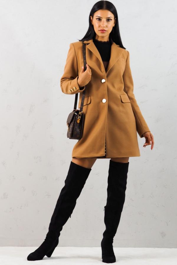 Płaszcz brązowy z guzikami Aline 9