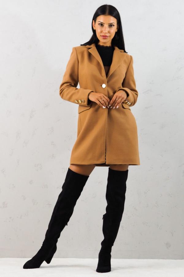 Płaszcz brązowy z guzikami Aline 10
