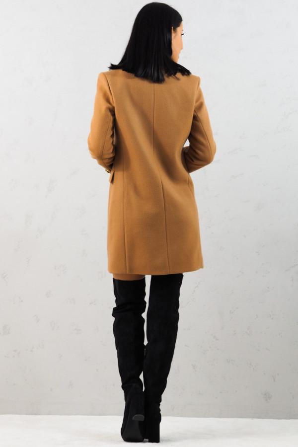 Płaszcz brązowy z guzikami Aline 11