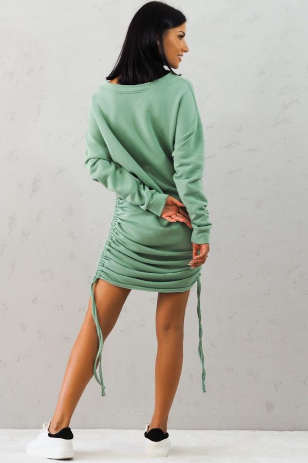 Bluza zielona z sciągaczem Jeanne 1