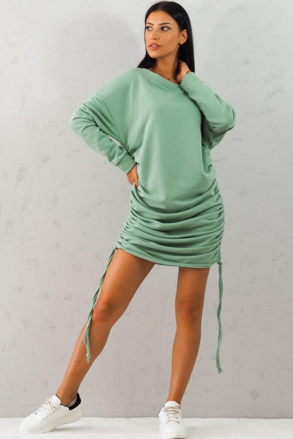 Bluza zielona z sciągaczem Jeanne