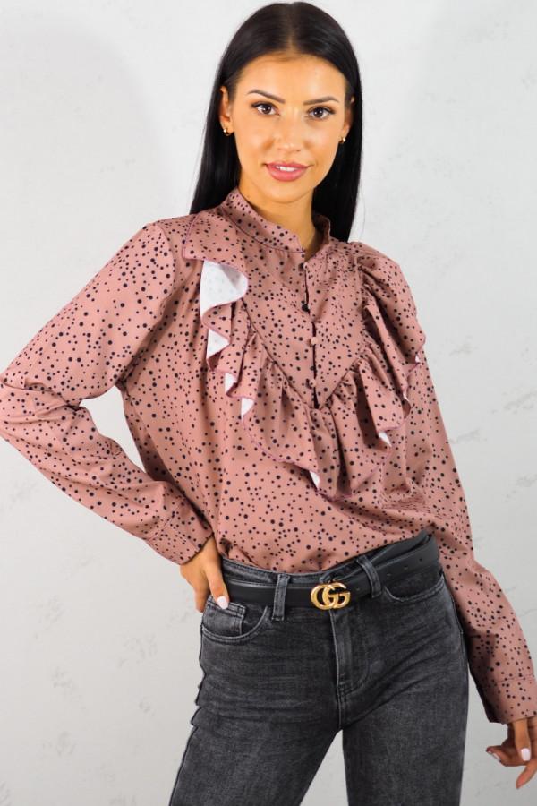 Koszula różowa w kropki