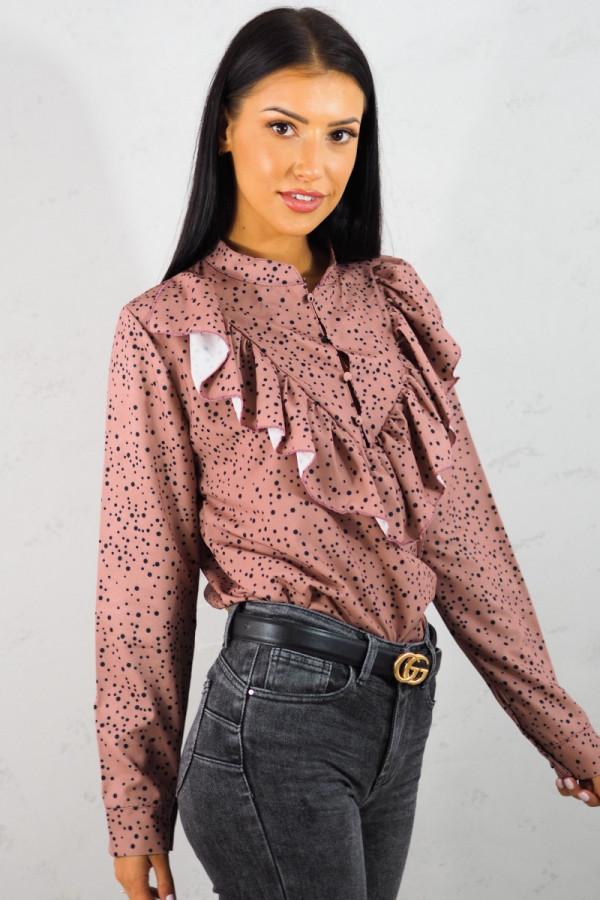 Koszula różowa w kropki 1