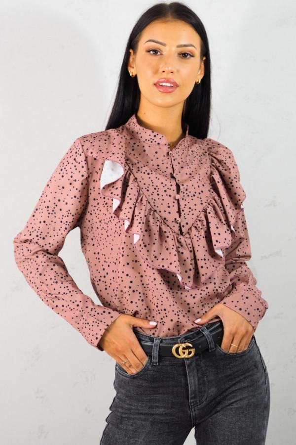 Koszula różowa w kropki 2