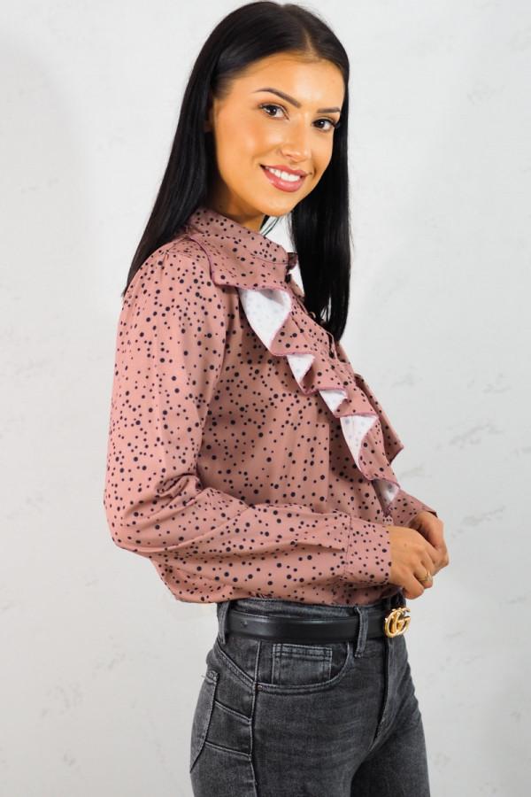 Koszula różowa w kropki 4