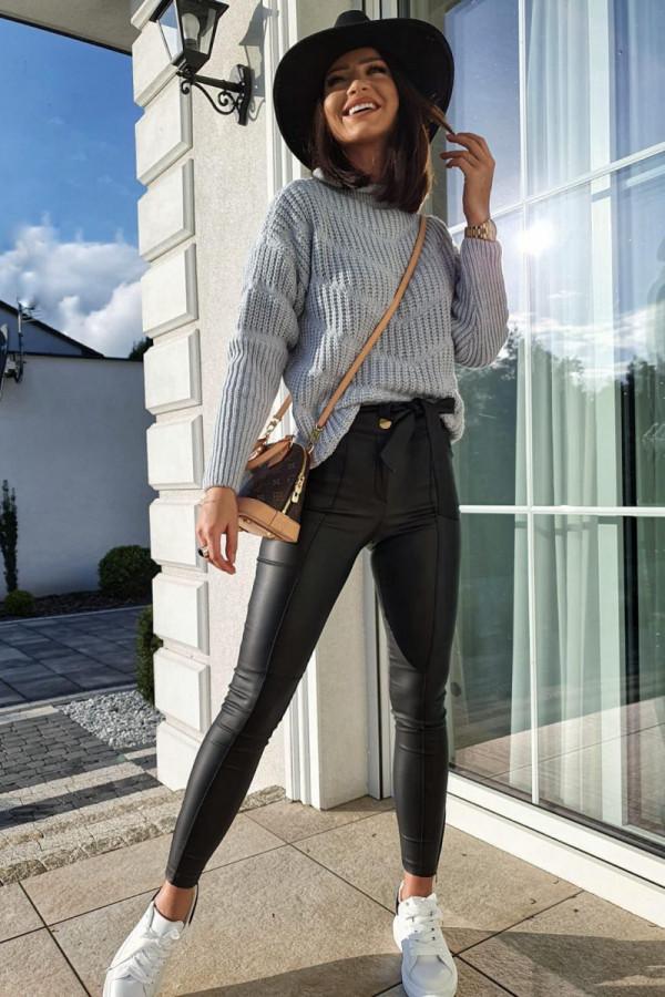 woskowane czarne spodnie II 1