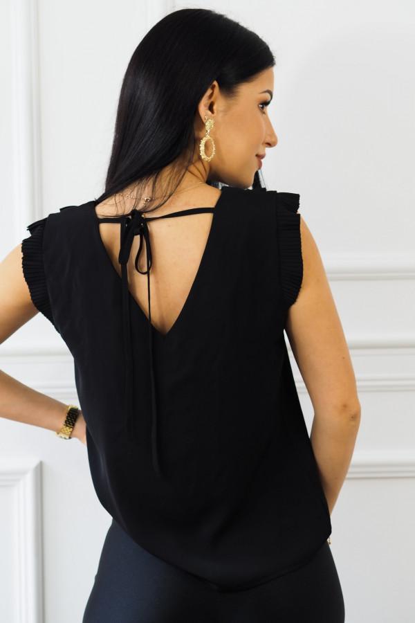 czarna bluzka z falbankami reyna 2