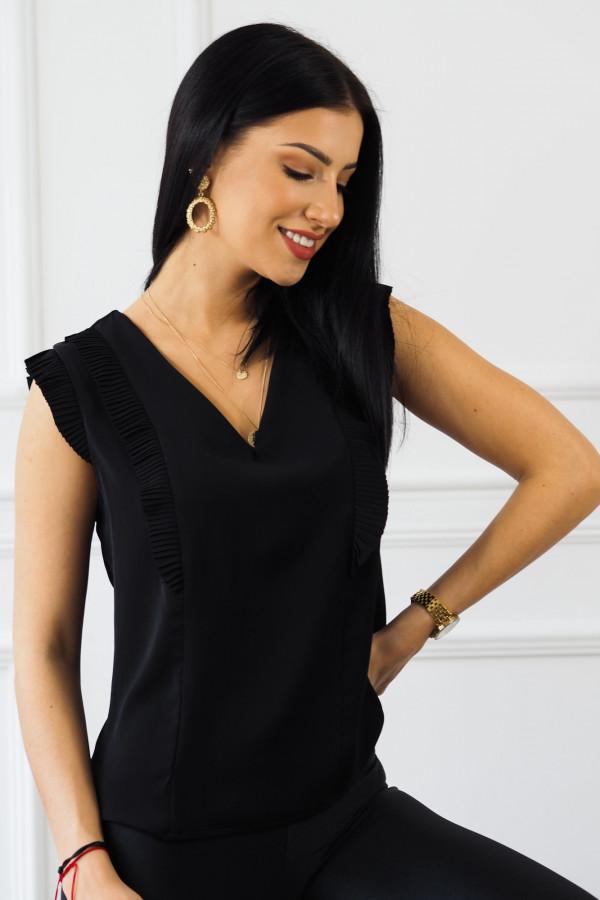 czarna bluzka z falbankami reyna 4