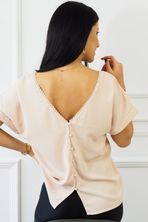 różowa bluzka z guzikami Sova 4