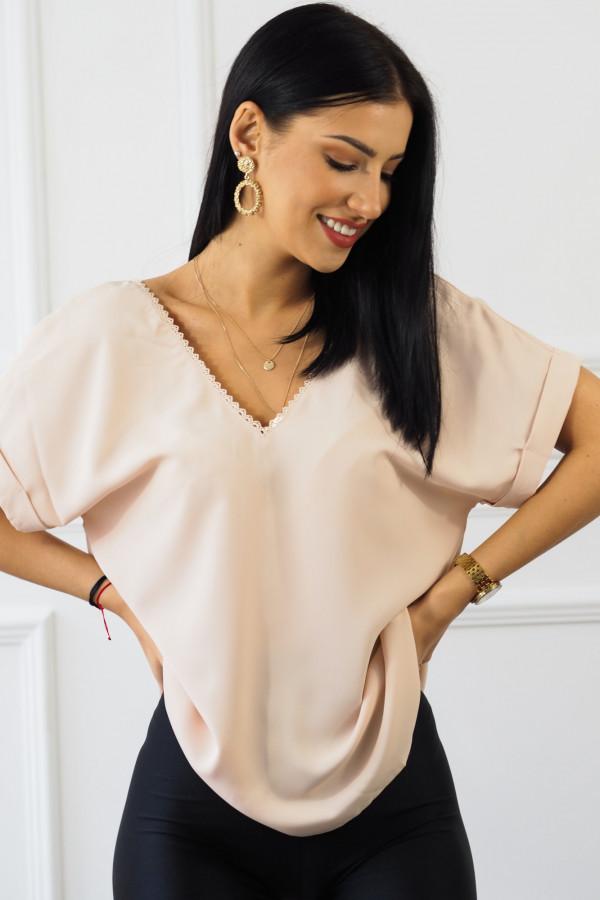 różowa bluzka z guzikami Sova 1