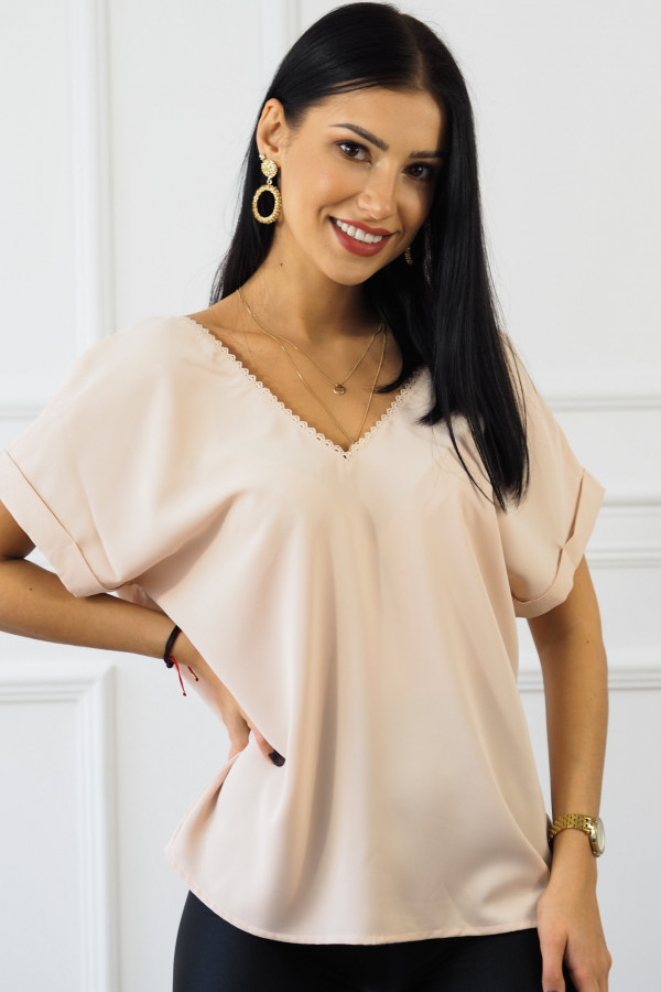 różowa bluzka z guzikami Sova 2
