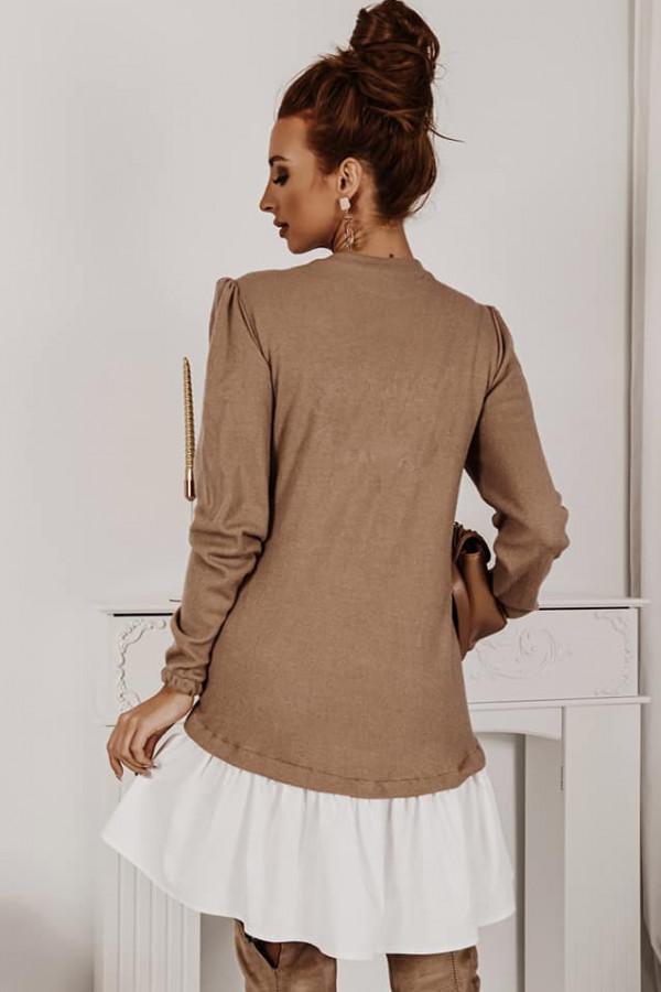 Sukienka z koszula karmel 1