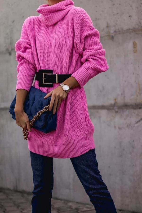 Różowy sweter Roni