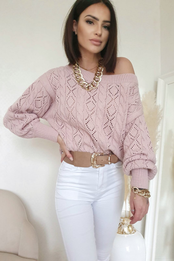 Sweter różowy Agnese