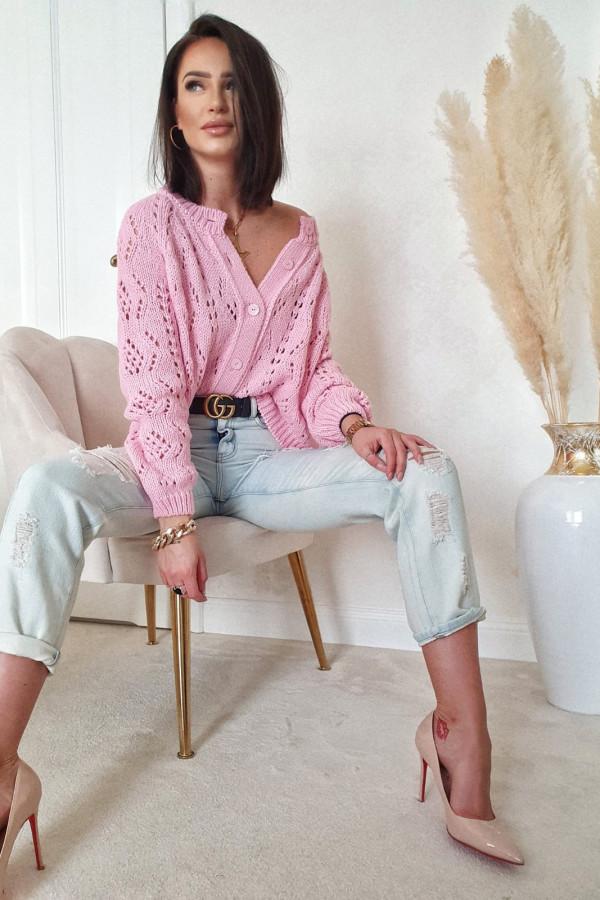 Sweter różowy z guzikami Giuditta 2