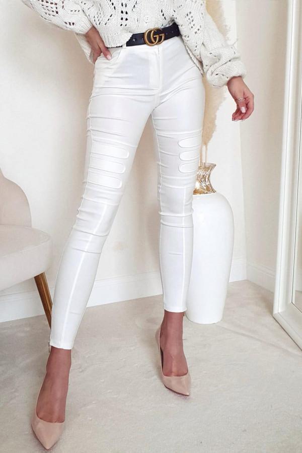 Woskowane białe spodnie diesel