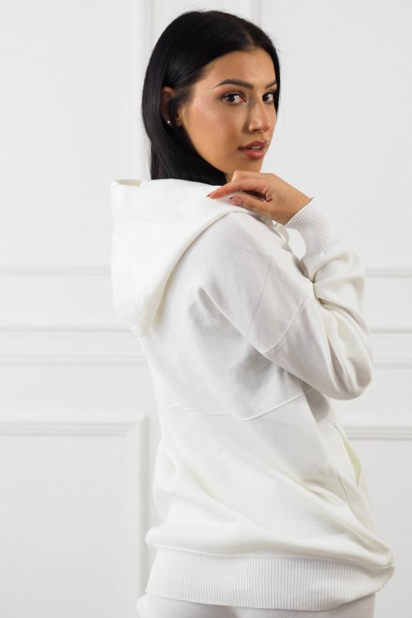 Biały komplet z rozpinaną bluza Daniela 3
