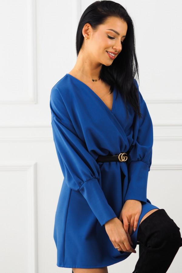 Sukienka niebieska z paskiem Eva 2