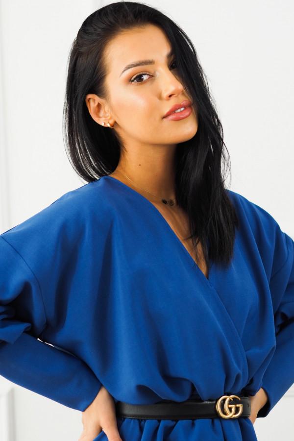 Sukienka niebieska z paskiem Eva 3