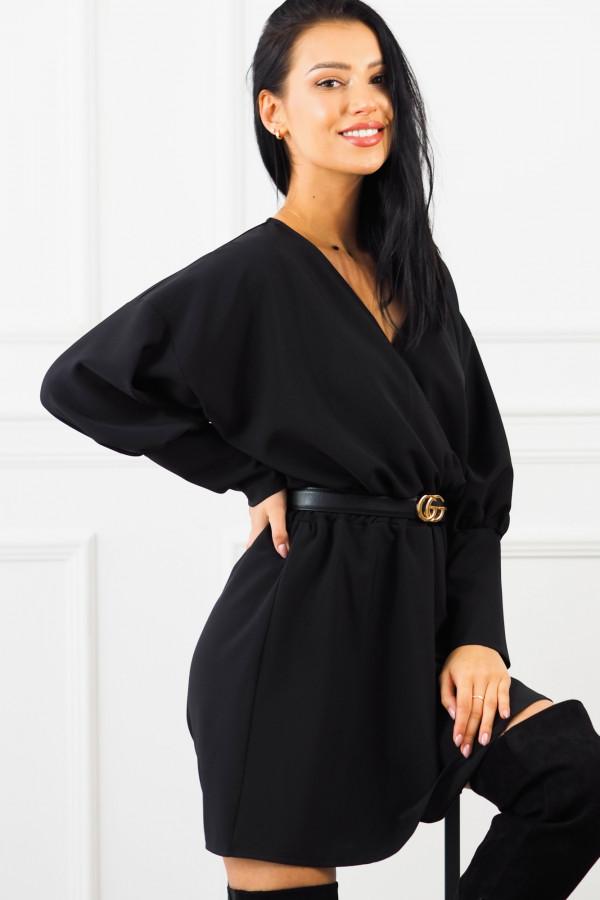 Sukienka czarna z paskiem Eva 2