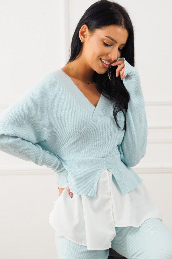 Komplet niebieski z koszulą Dorotea 3