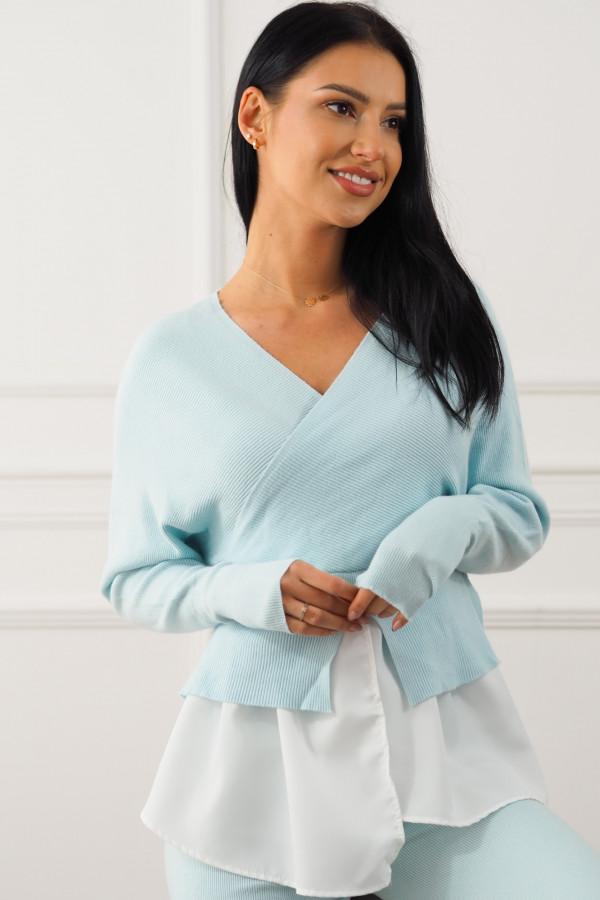 Komplet niebieski z koszulą Dorotea 4