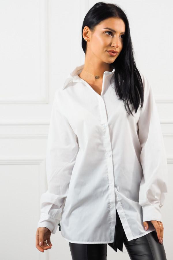 Beżowy bezrękawnik z białą koszulą Lucia 1