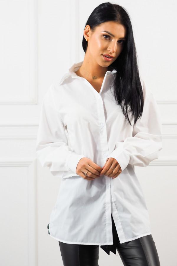 Beżowy bezrękawnik z białą koszulą Lucia 2