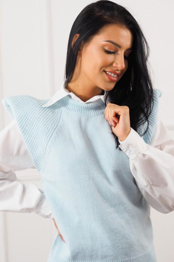 Niebieski bezrękawnik z białą koszulą Lucia 5