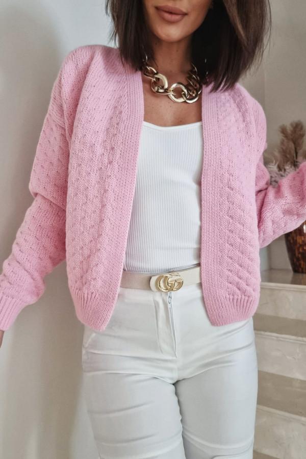 Różowy sweter Gianna