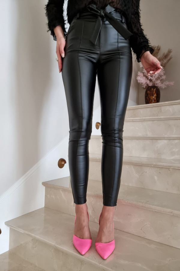 woskowane czarne spodnie II 2