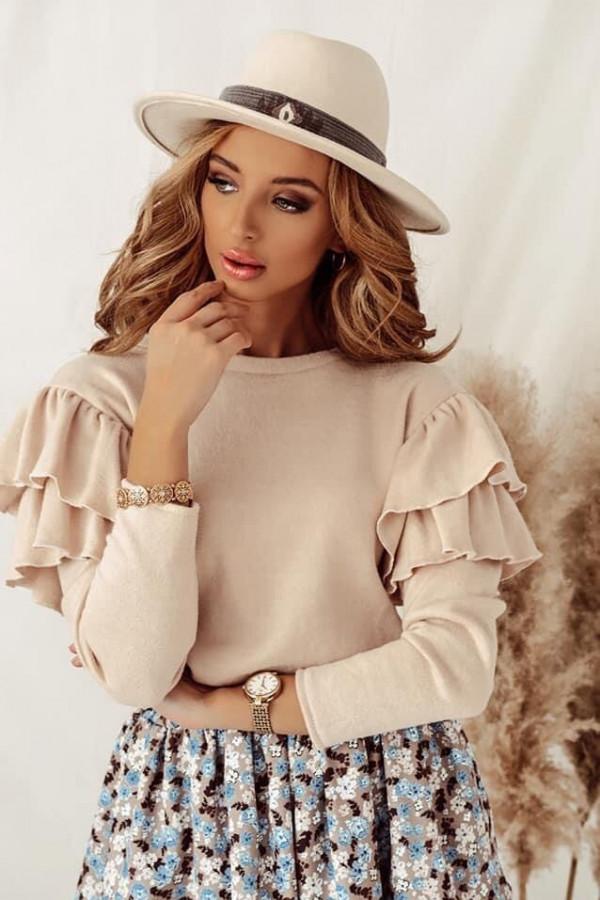 Beżowa bluzka Rosalia 1