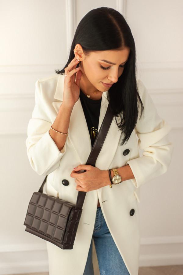 Płaszcz biały z guzikami Rosalia 1