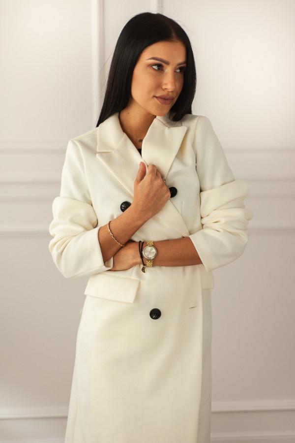 Płaszcz biały z guzikami Rosalia 3