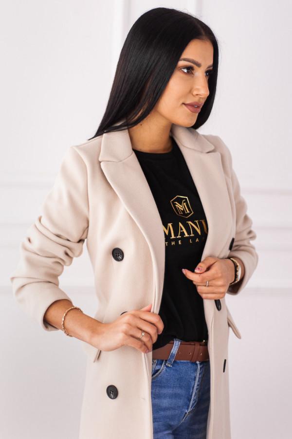 Płaszcz beżowy z guzikami Rosalia 2