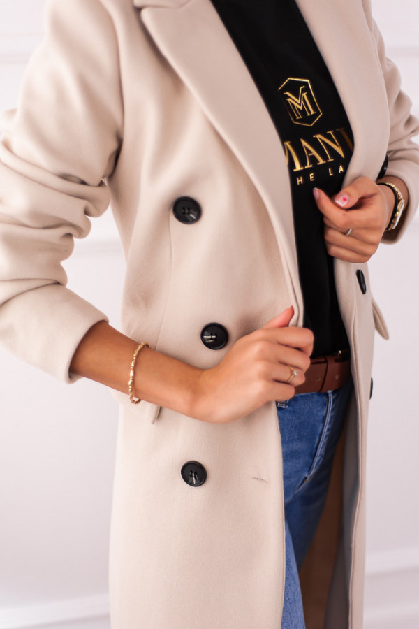 Płaszcz beżowy z guzikami Rosalia 4