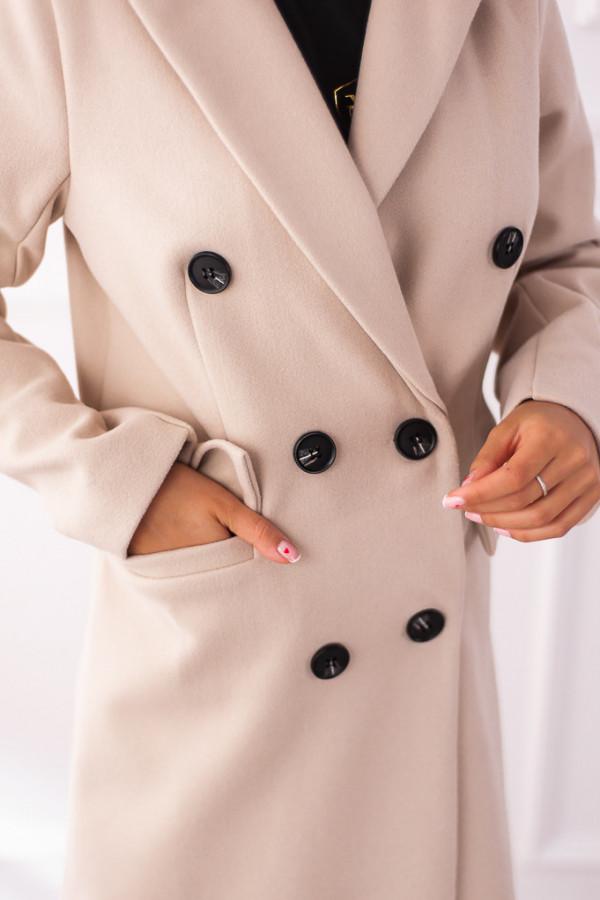 Płaszcz beżowy z guzikami Rosalia 5