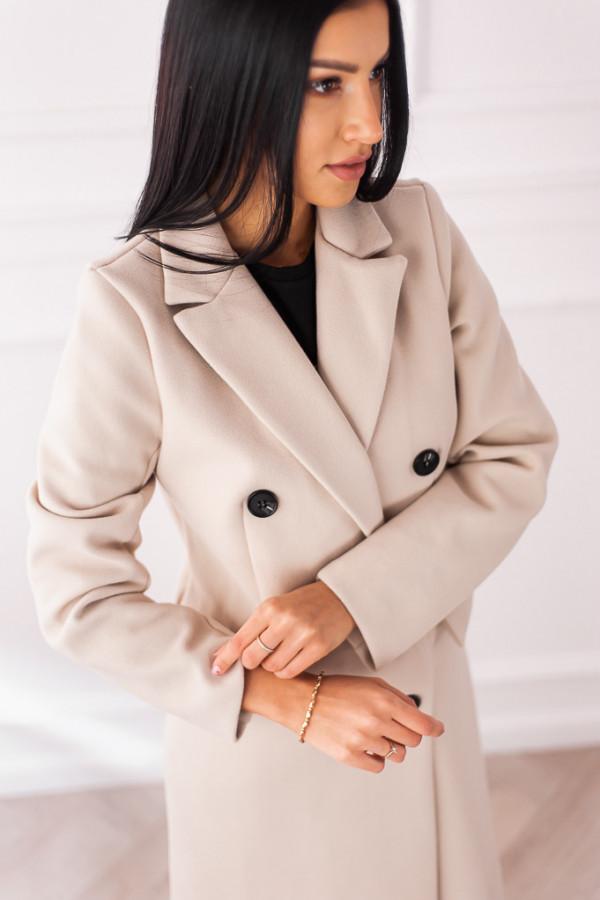 Płaszcz beżowy z guzikami Rosalia 6