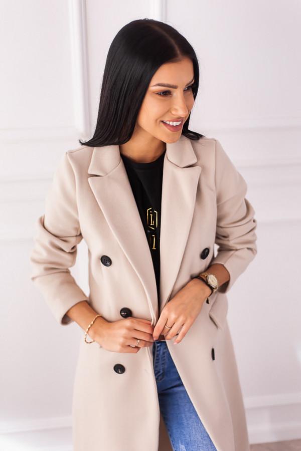 Płaszcz beżowy z guzikami Rosalia 7