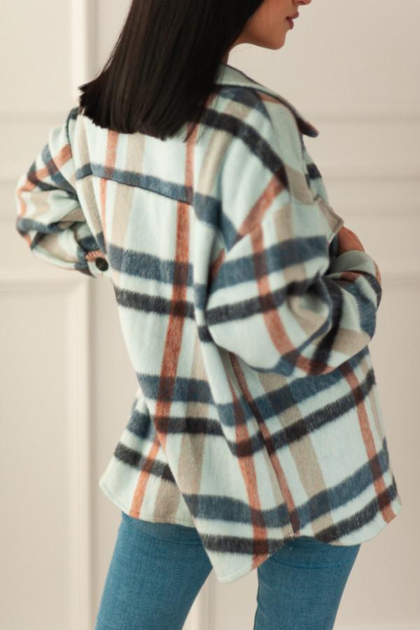 Koszula beżowa w kratę Cornelia 3