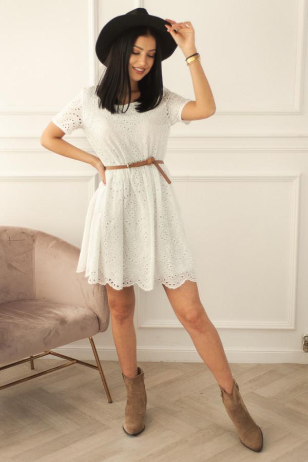 Ażurowa biała sukienka Anna