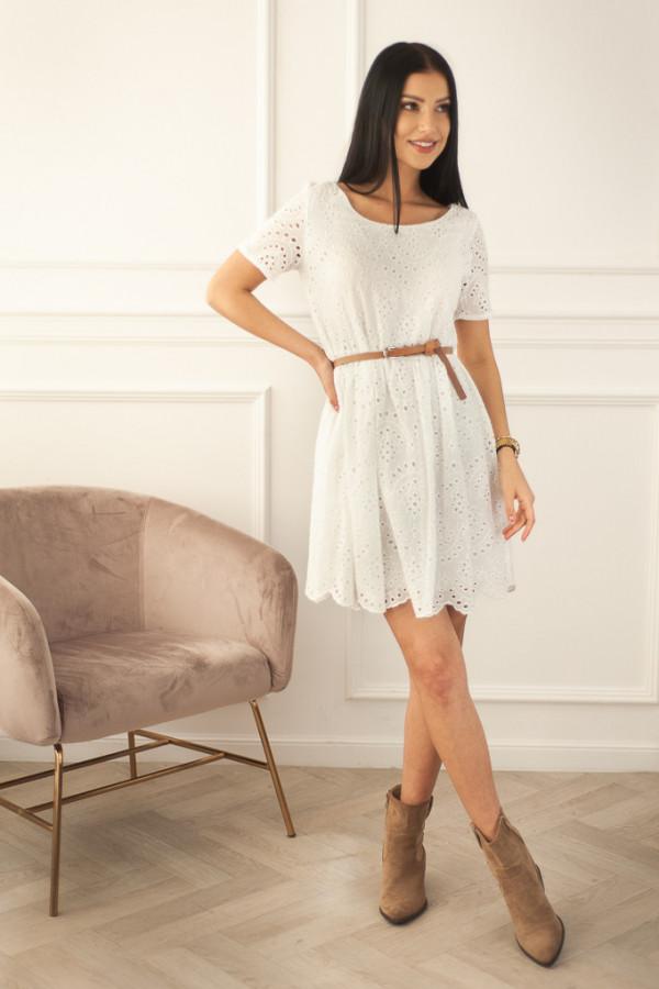 Ażurowa biała sukienka Anna 2